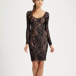 BCBG Dresses - BCBG Black Lace Tanya Bodycon Dress
